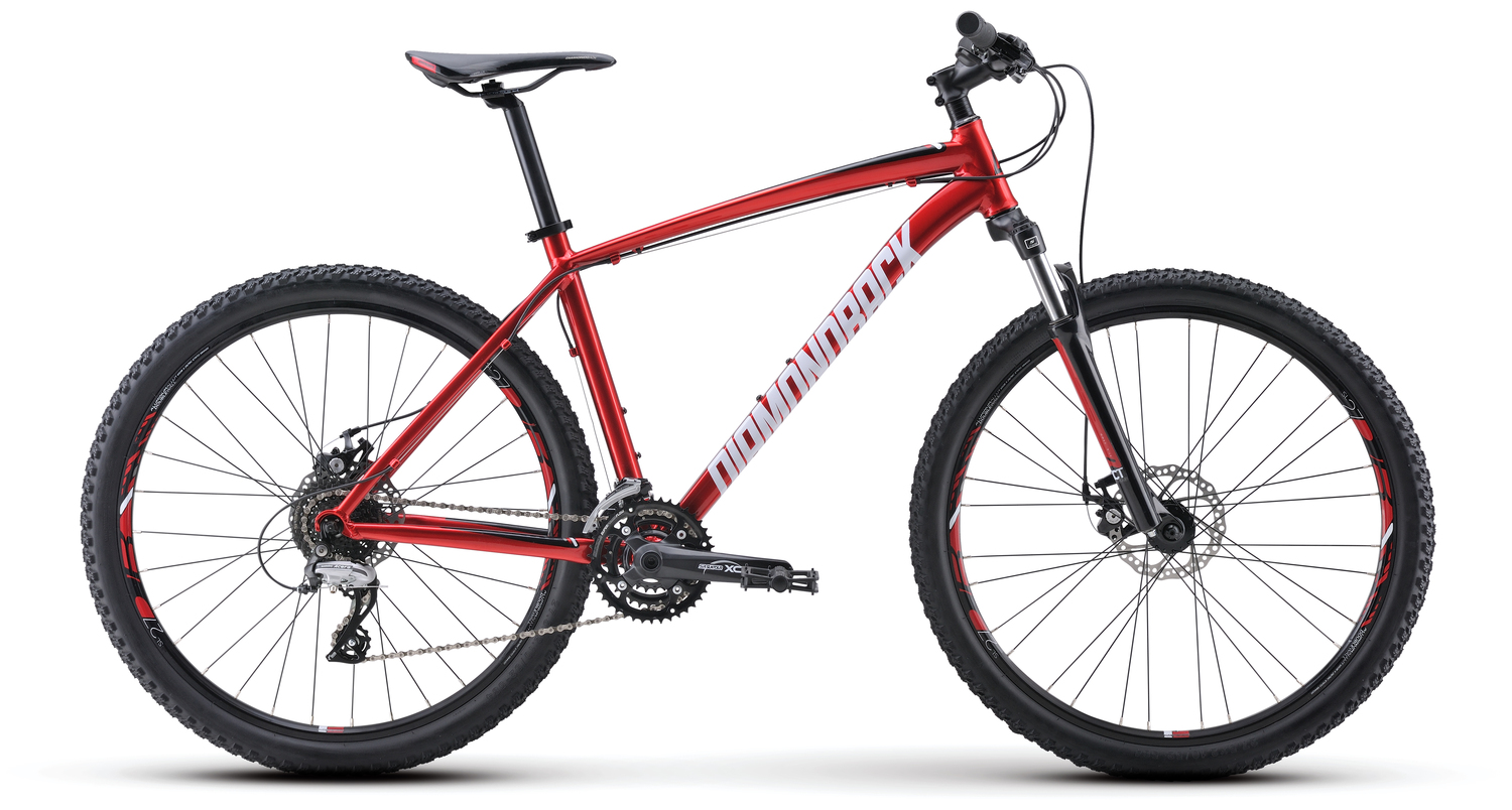 Mountain Bikes 17 Overdrive Red profile