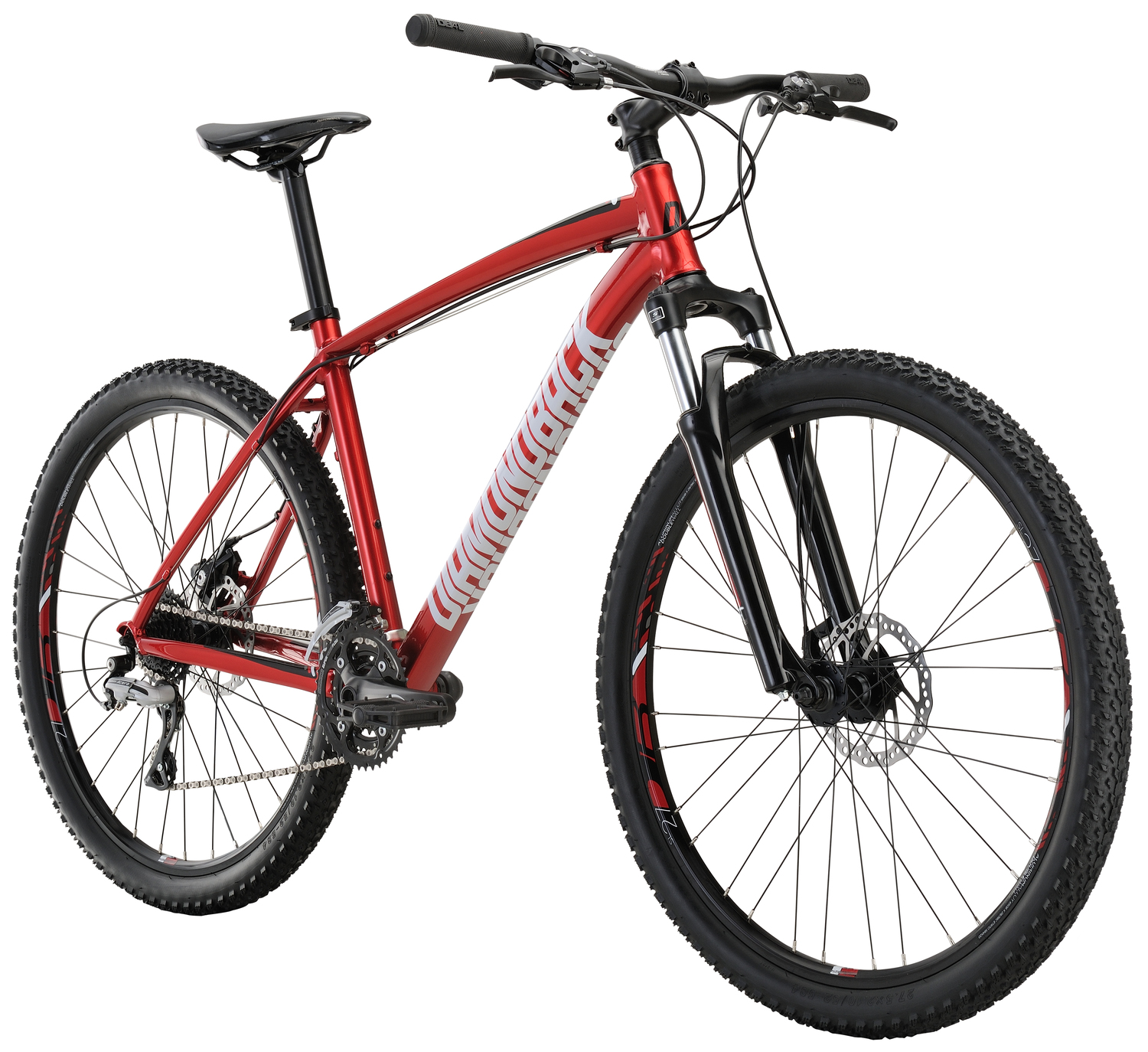 Mountain Bikes 17 Overdrive Red angle