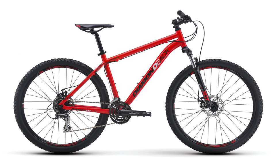 Mountain Bikes 16 Overdrive Red profile