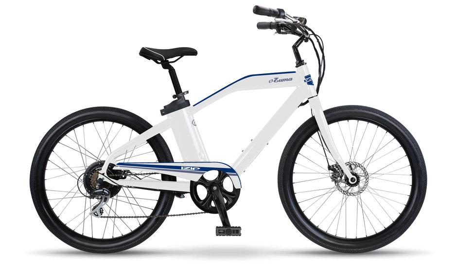 Electric Bike IZIP Zuma White Navy flat