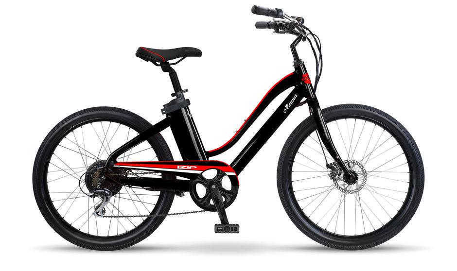 Electric Bike IZIP Zuma W Black Red flat