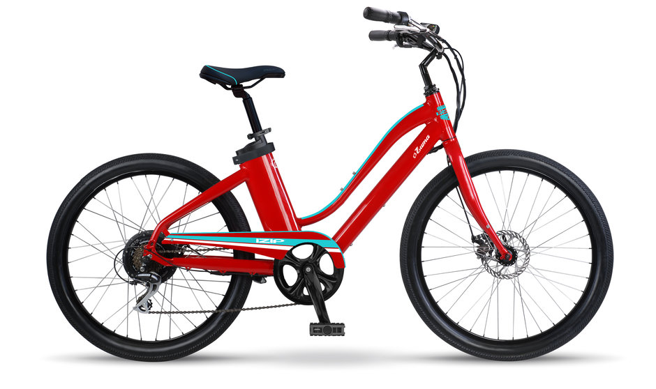 Electric Bike IZIP Zuma W Red Turquoise flat