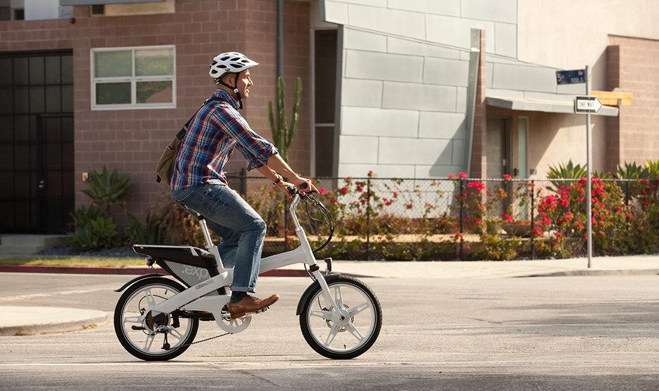 Electric Bike Town Riding Horizontal Street