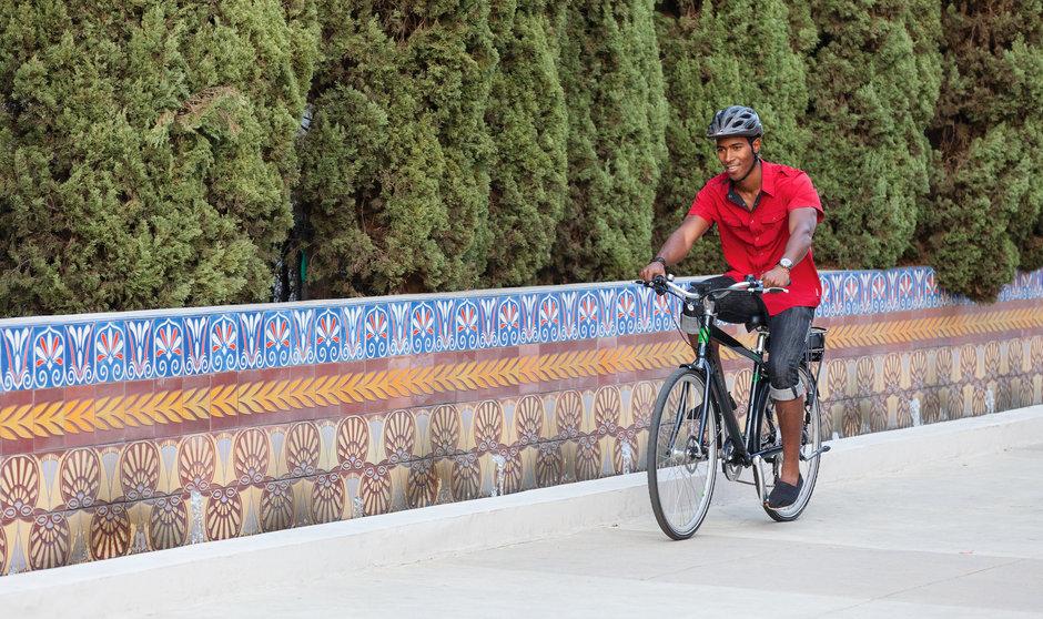 Electric Bike Path Riding Horizontal